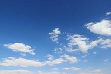 Dramatic Cloudy Blue Sky Heaven Air