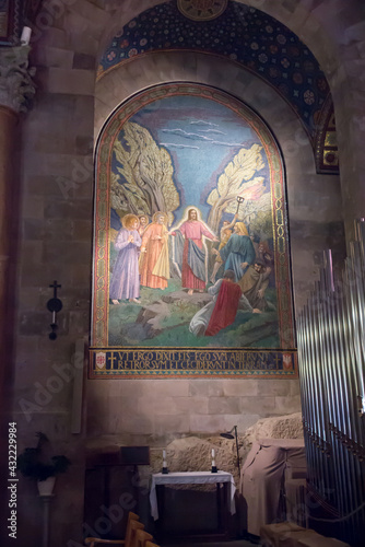 Fotografía Jerusalem, Israel, January 29, 2020: Interior of the Church of All Nations also known as the Basilica of the Agony