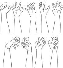 Zombie-Hands Silhouette Vector