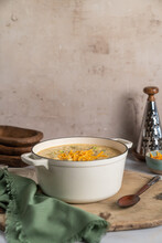 Broccoli And Cheese Soup In Dutch Oven