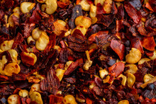 Closeup Of Red Pepper Flakes