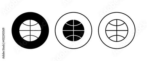 Photo Basketball icon set