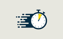 Stopwatch Fast Quick Timely Delivery Flat Icon