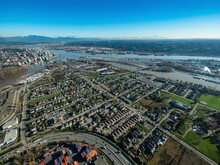Stock Aerial Photo Of Queensborough New Westminster, Canada