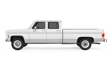 Vintage Pickup Truck Isolated