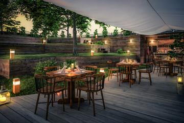 Inside Garden Pub & Restaurant (project) - 3d visualization