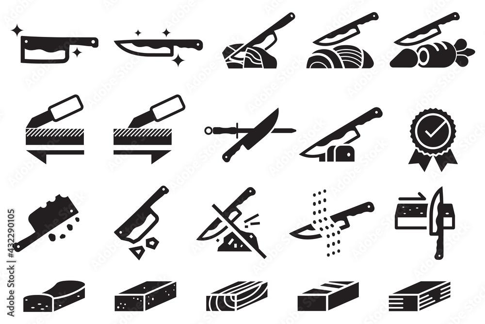 Fotografie, Obraz Good knife properties icon