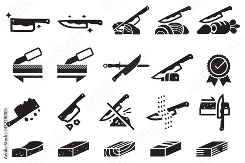 Obraz na plátně Good knife properties icon