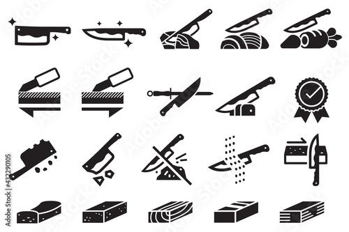 Foto Good knife properties icon