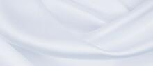 Smooth Elegant Grey Silk Or Satin Luxury Cloth As Wedding Background. Luxurious Background Design