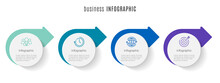 Modern Circle Timeline Infographic Template 4 Steps