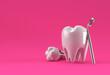 Leinwandbild Motiv Dental model of premolar tooth 3D Rendering.