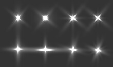 Vector Illustration Of Abstract Flare Light Rays. Editable Rays On The Transparent Background