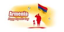 Vector Illustration For Happy Republic Day -Armenia