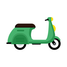 Green Scooter Motorcycle