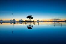 Dawn In Beach, Nature Blue Background