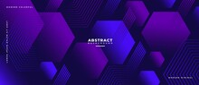 Abstract Geometric Shapes Composition Banner_4_3