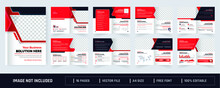 16 Pages Professional Corporate Business Brochure Or Booklet Template, Multi-page Brochure Design