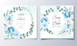 Wedding Invitation Card With Beautiful Hand Draw Floral_4