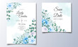 Wedding Invitation Card With Beautiful Hand Draw Floral_5