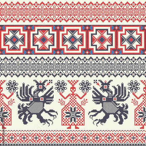 Canvas-taulu Russian pattern 9