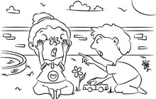 Coloring Page Boy And Girl