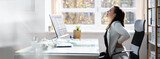 Bad Posture Sitting In Office With Backache