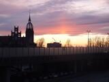Fototapeta Londyn - wschód słońca