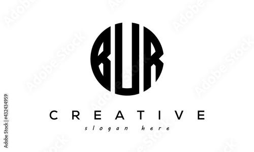 Obraz na plátně Letters BUR creative circle logo design vector