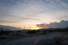 Wind Farms In The Palm Desert, California