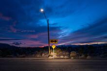 A Dramatic Evening Sky Outside Joshua Tree National Park, California