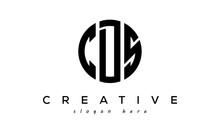 Letters CDS Creative Circle Logo Design Vector