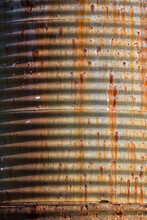 Old Rusting Corrugated Water Tank