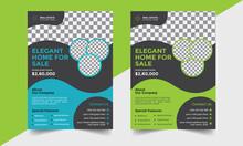 Corporate Real Estate Flyer Template/ Real Estate Marketing Poster/ Leaflet Design Vector