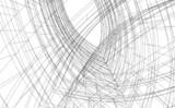 Fototapeta Do przedpokoju - abstract modern architecture design
