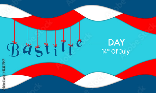 Valokuva Bastille Day With Hang Text