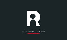 RI Or IR Alphabet Letters Icon Abstract Logo