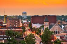 Columbia, Missouri, USA Downtown City Skyline