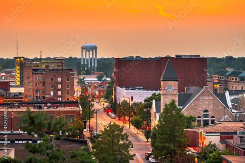 Fototapeta Columbia, Missouri, USA Downtown City Skyline obraz