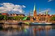 Leinwandbild Motiv Historic town of Bremen, Germany