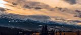 Fototapeta Krajobraz - Tatra Mountains sundown