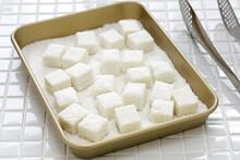 Homemade Coconut Milk Pudding, Chinese Dim Sum Dessert