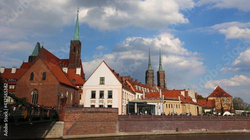Fototapeta Panorama architektury miasta Wrocław.  obraz
