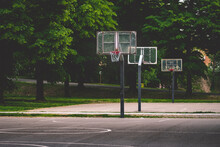 Outdoor Basketball Court Without Anyone