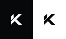 Letter K Logo Icon Design Template. Trendy Minimal Monogram Emblem Design Concept.