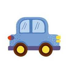 Cute Blue Car