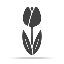 Tulip Flower Icon Vector Isolated