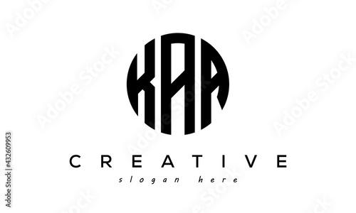 Canvas Print Letters KAA creative circle logo design vector
