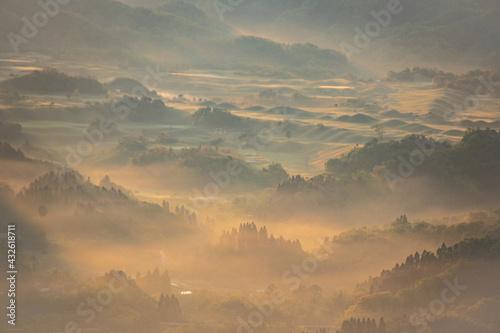 山の雲海 Fotobehang