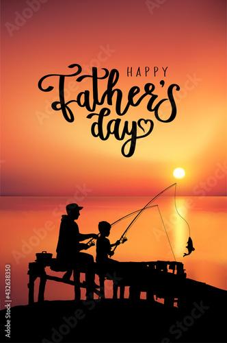 Slika na platnu Happy Father's Day card